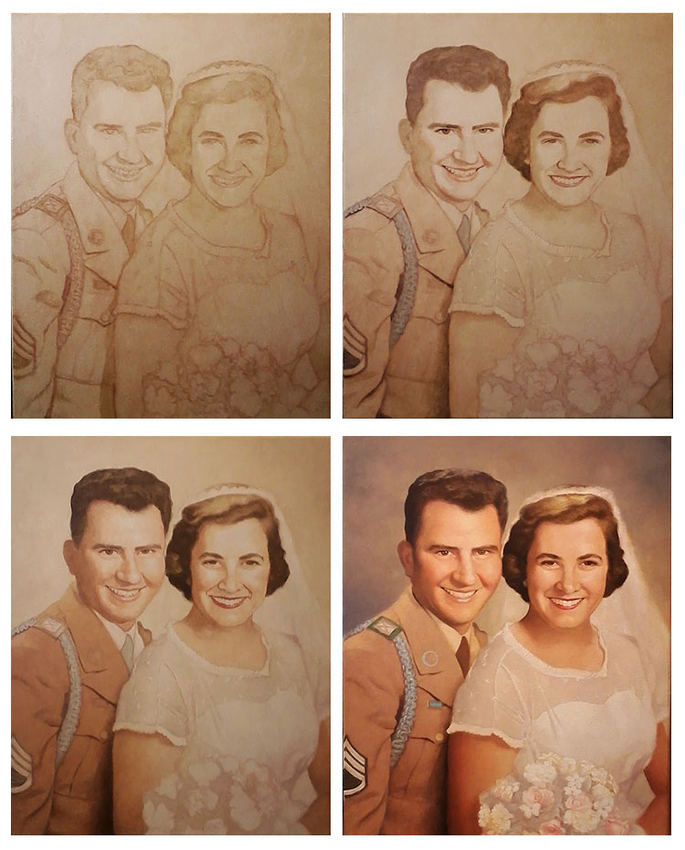Photo to portrait painting