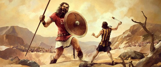 David squares off against Goliath on the battlefield
