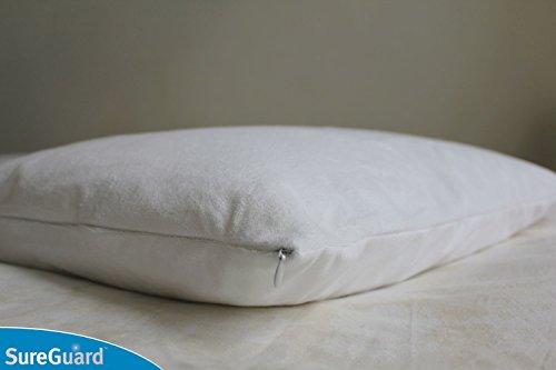 Set of 2 Standard Size SureGuard Pillow Protectors  100