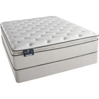 simmons beautysleep fancy plush full size pillow top mattress and boxspring set
