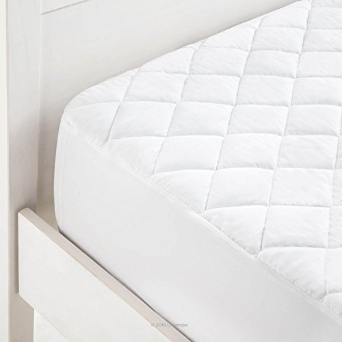 LINENSPA Waterproof Mattress Pad with Deep Pocket Fitted
