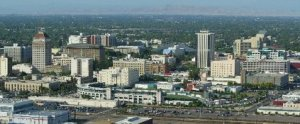 Fresno, California skyline