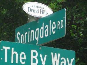 Historic Druid Hills street sign