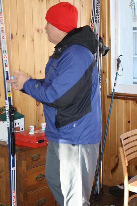 Doug about to Ski