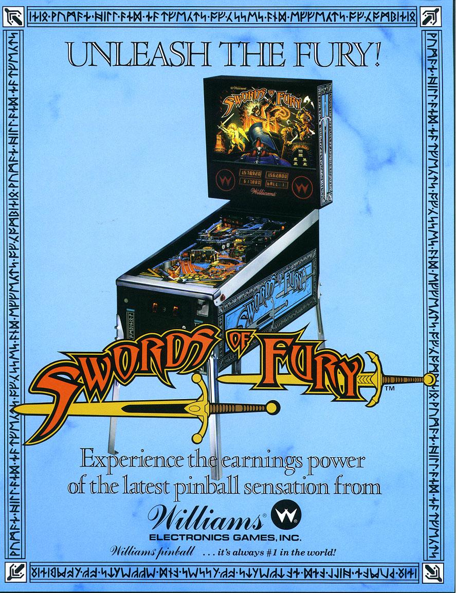Swords of Fury - Pinball Eprom Upgrade