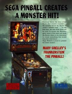 MS Frankenstein Pinball Flyer