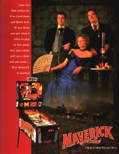 Maverick Pinball Flyer Front