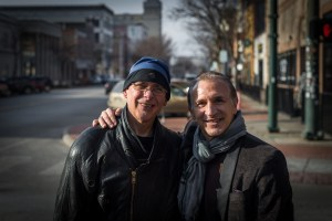 Artist James Pernotto and the famed boxer Boom Boom Mancini