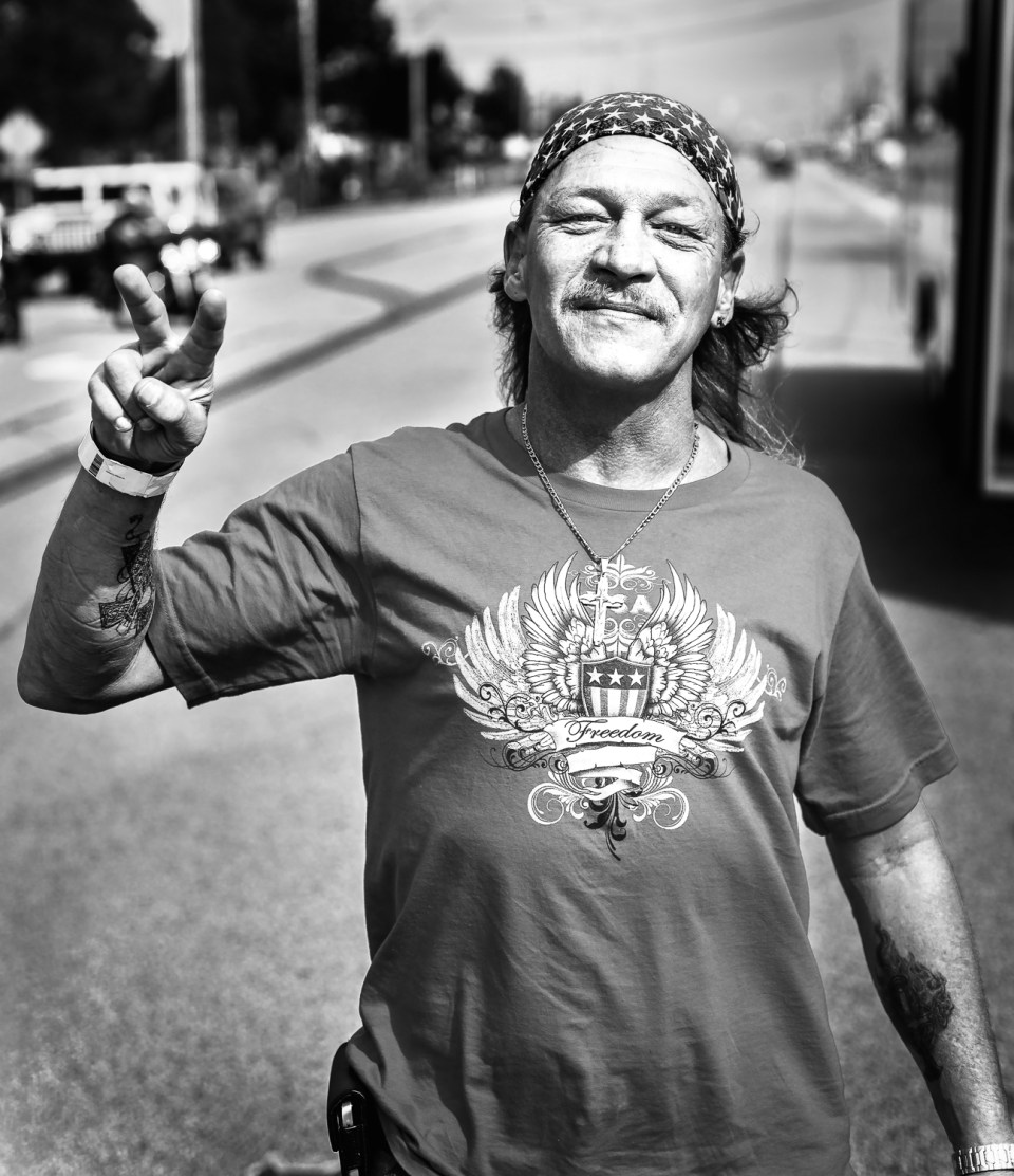 Mark starred in the Ohio Welcome Home Parade, as he waved from the Cleveland VA Bus and continually flashed the peace sign.