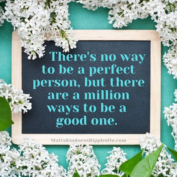 be a good person