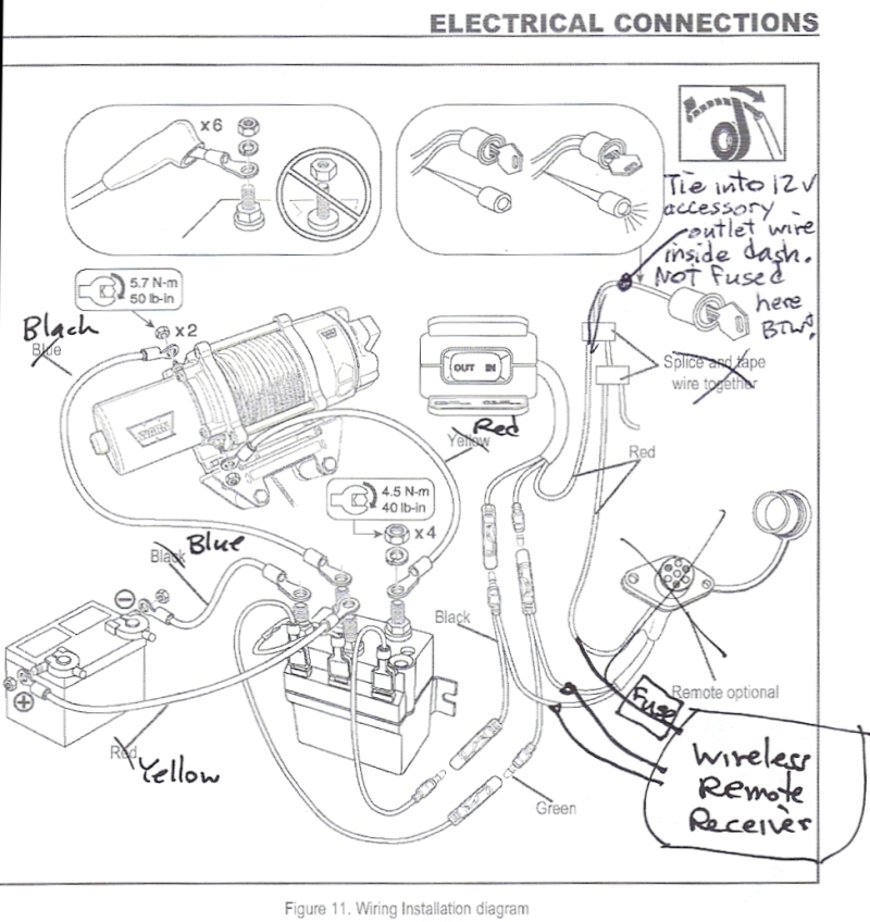 wiring diagram for warn 4000 winch