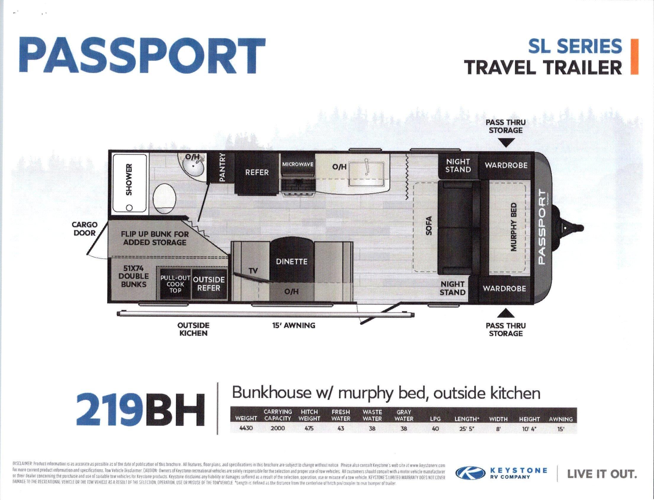 2021 Passport SL Series 219BH