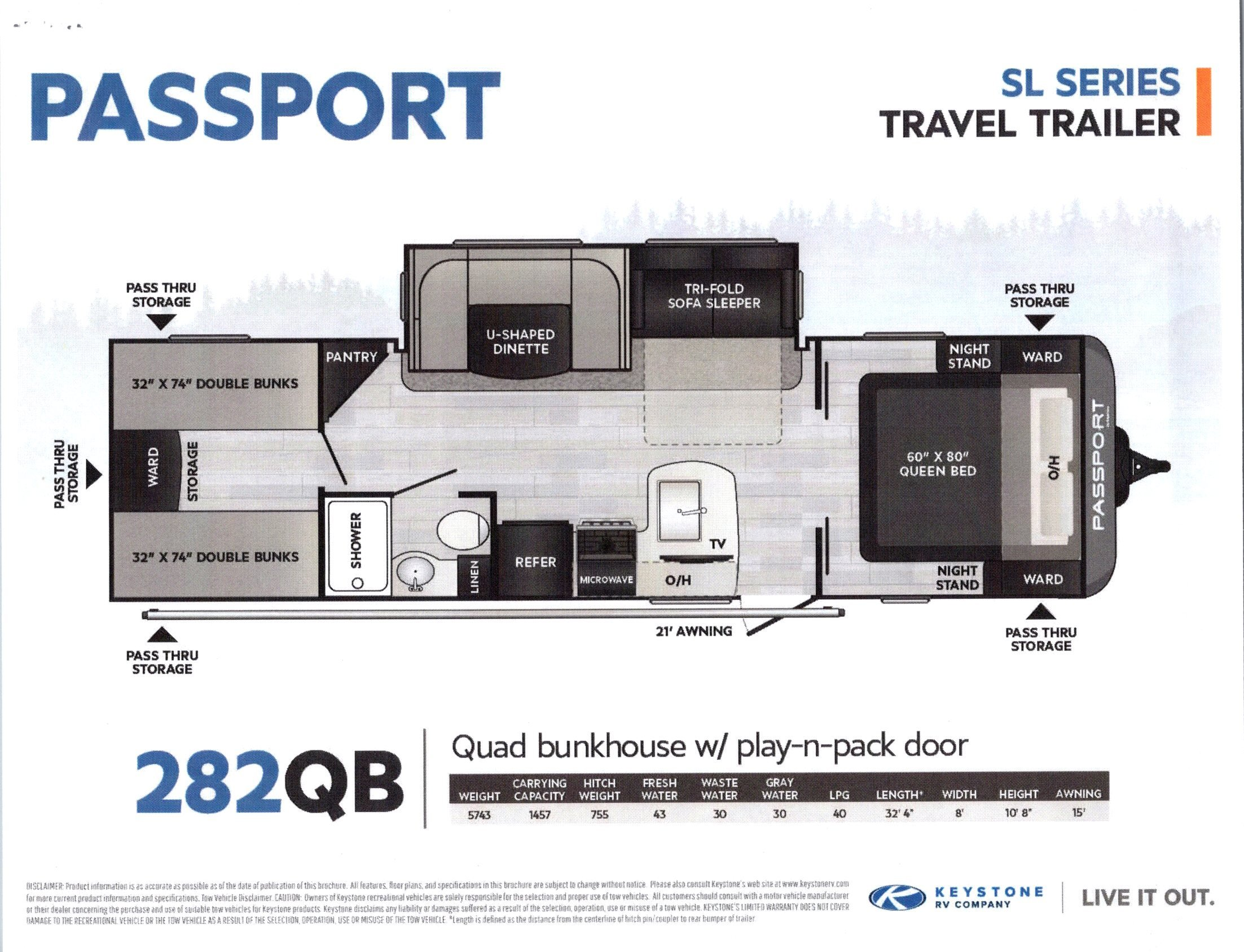 2021 Passport 282QB SL Series
