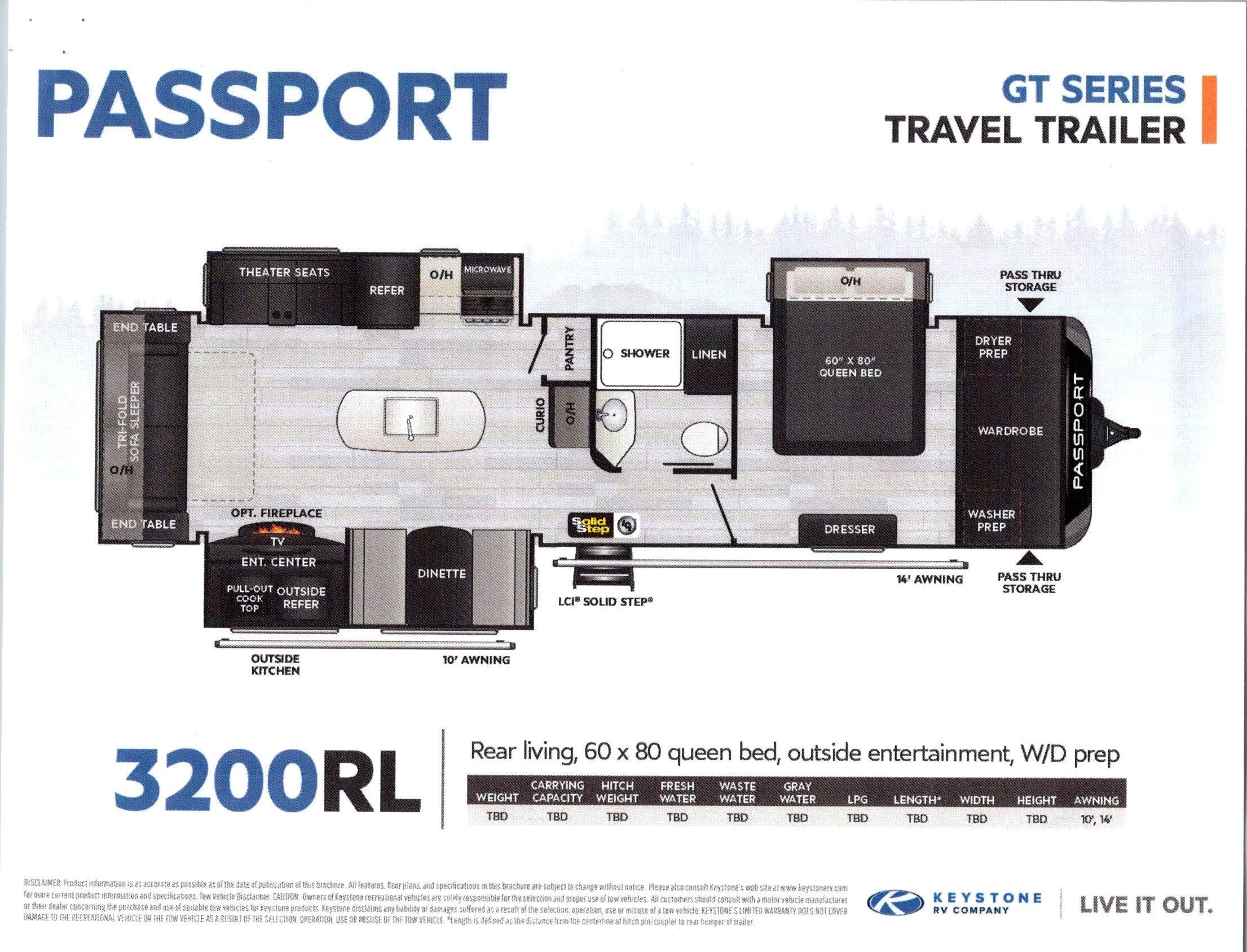 2021 Passport 3200RL GT Series