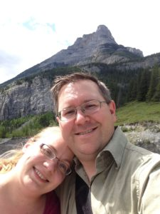 photo of myself with my wife on a hike outside of calgary alberta