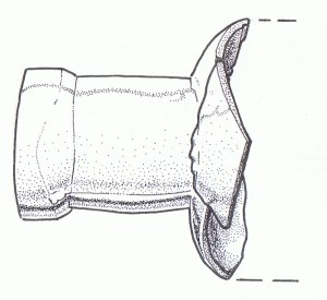 neck of a french bottle