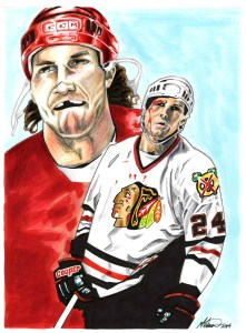 Illustration of Bob Probert