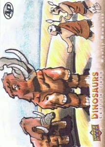 Upper Deck 2015 Dinosaurs artist return sketch card Woolly Mammoth