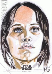 Star Wars Rogue One Series Two sketch card Jyn Erso