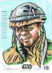 Star Wars Rogue One Series Two sketch card Rebel soldier