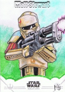Star Wars Rogue One Series Two Shoretrooper sketch card