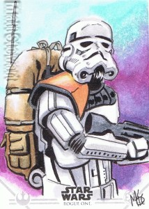 Star Wars Rogue One Series Two sketch card Stormtrooper
