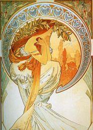Alphonse Mucha painting