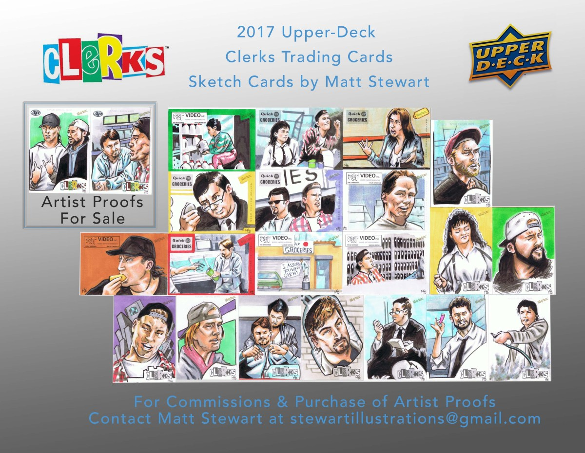 Clerks Sketch card Spread page