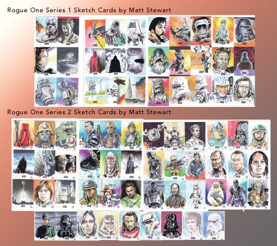 All of my Rogue One Sketch Cards