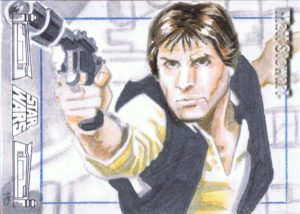 Han Solo artist return sketch card
