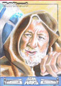 Obiwan and R2 artist return sketch card