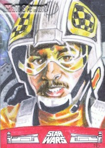 gold leader artist return sketch card