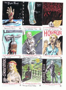 monsterwax sketch cards by matt stewart 1