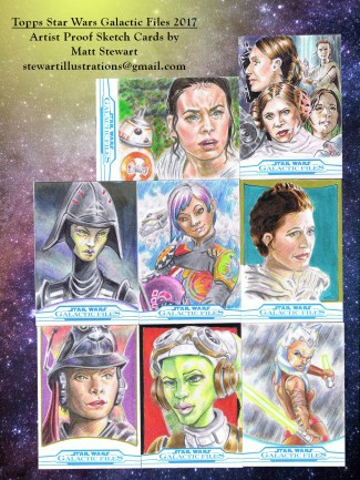 topps star wars galactic files 2017 artist proof sketch cards