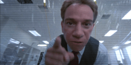 photograph if miguel ferrer in the movie Robocop