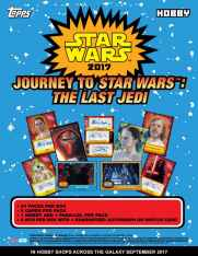 sale sheet for Topps 2017 star wars journey to the last jedi trading cards with product images