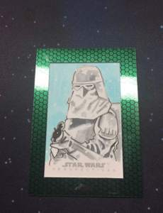 snowtrooper sketch card from matt stewart topps star wars chrome perspectives