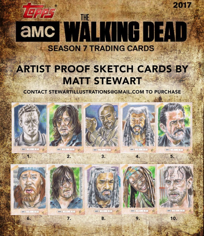 amc topps the walking dead artist return sketch cards by matt stewart