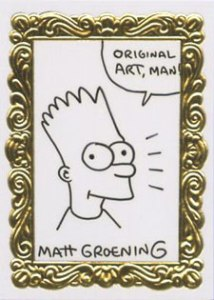 'Art De Bart' Sketch Card from Skybox drawn by matt groening