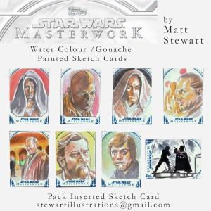 star wars masterwork sketch cards by matt stewart