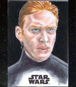 journey to the last jedi hux artist proof sketch card star wars hand drawn art by matt stewart