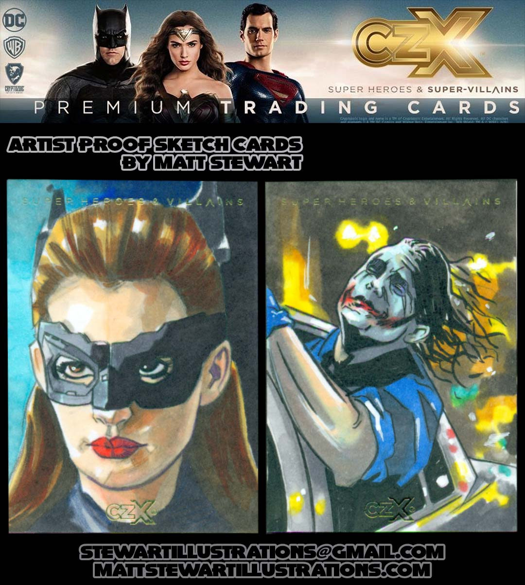 Cryptozoic DC CZX Super-Heroes & Super-Villains Sketch Cards