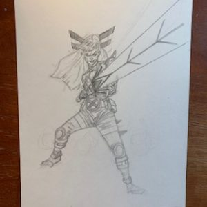 drawing of magik the new mutants comic book character