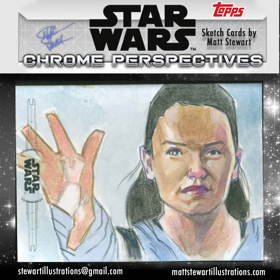 Star Wars: Chrome Perspectives Sketch Cards