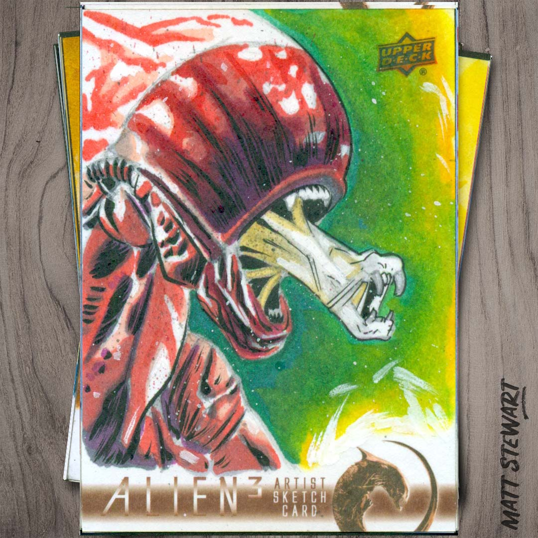 New Artwork in Alien 3 Trading Cards from Upper-Deck!