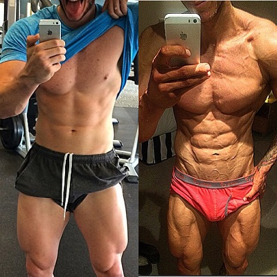 Online personal trainer helping young male get shredded for competition