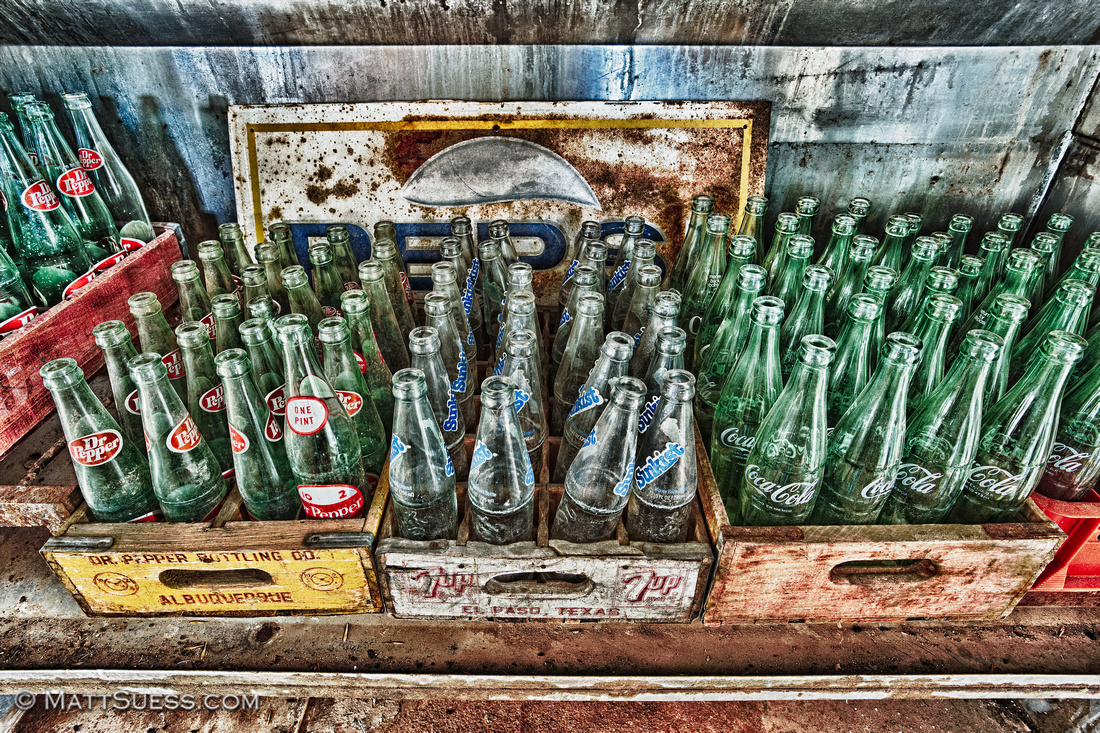 """""""Empty Bottles"""" - New Mexico Click on photo to view larger & to purchase prints."""