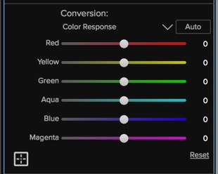 In Color Response is where the Targeted Brightness tool lives.