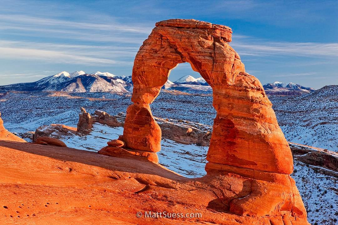Winter Sunset at Delicate Arch, Instagram post date: 02-02-2017