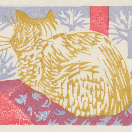 """Winter Night"" woodblock print by Matt Underwood"